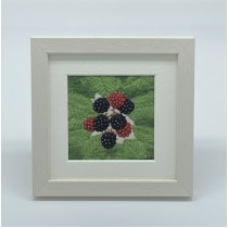Blackberries - Felt Art Mini Print
