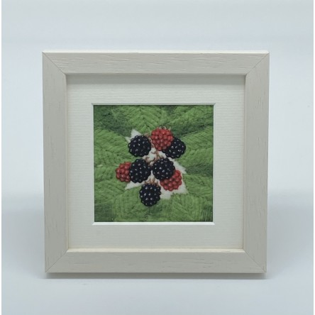 Blackberries - Felt Art Mini Print