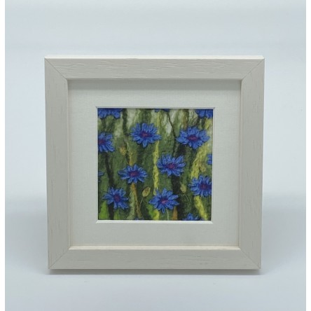 Cornflower - Felt Art Mini Print