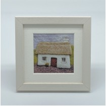 Cottage - Felt Art Mini Print