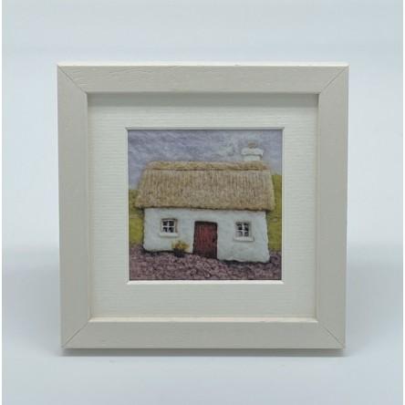 Cottage - Felt Art Mini Print