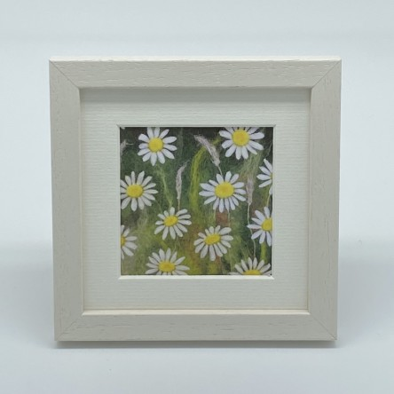 Daisies - Felt Art Mini Print