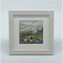 Frosty Fields - Felt Art Mini Print