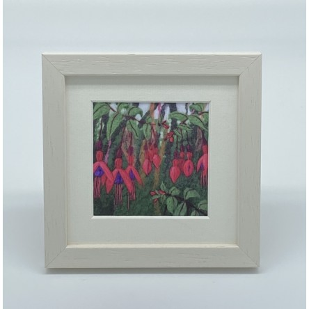 Fuchsia - Felt Art Mini Print