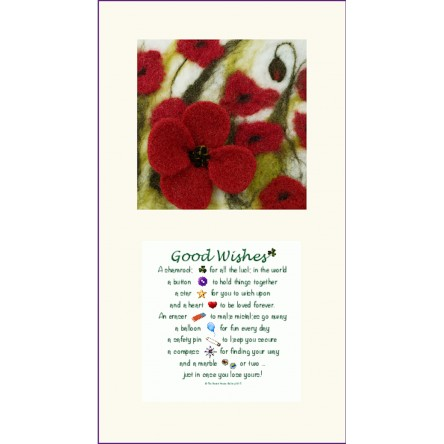 Large Poppies and Good Wishes Twin Frame
