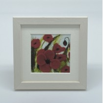 Large Poppies - Felt Art Mini Print