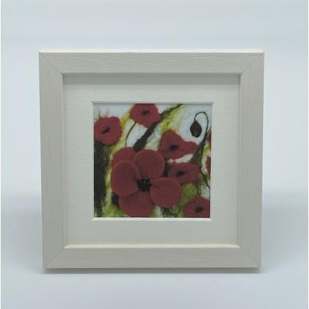Large Poppies - Felt Art Mini Print
