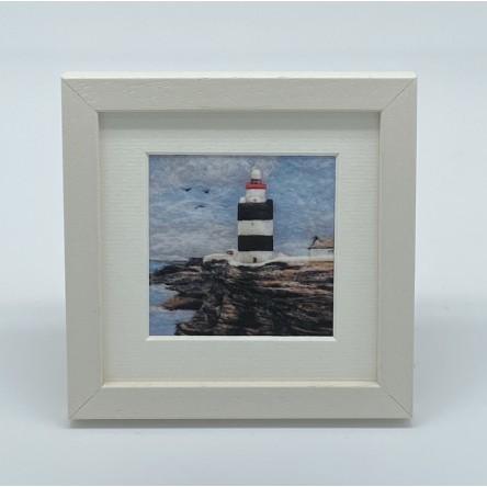 Lighthouse - Felt Art Mini Print