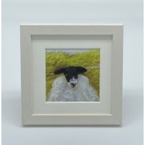 One Black Sheep - Felt Art Mini Print