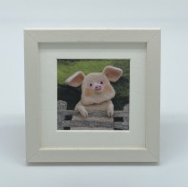 Piggy - Felt Art Mini Print