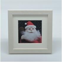 Santa - Felt Art Mini Print