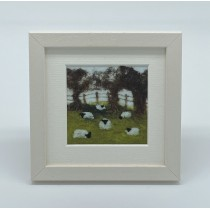 Sheep Field - Felt Art Mini Print