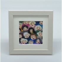 Smiling Faces - Felt Art Mini Print