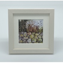 Stone Wall - Felt Art Mini Print