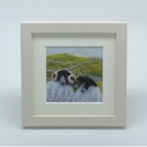 Two Black Sheep - Felt Art Mini Print