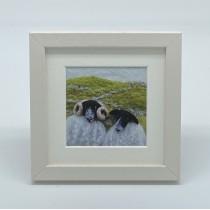 Two Black Sheep - Felt Art Mini Print