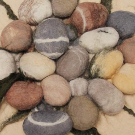 A New Print - Large Stones - Felt Art Mini-Print