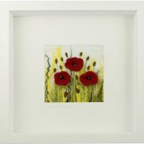 Small Field Poppies Felt Art