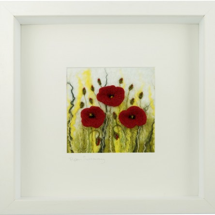 Small Field Poppies Felt Art