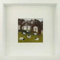 Sheep in the Field Felt Art