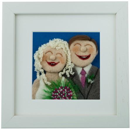 Wedding – Felt Art Mini-Print