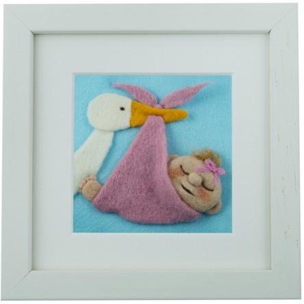 Baby Girl – Felt Art Mini-Print