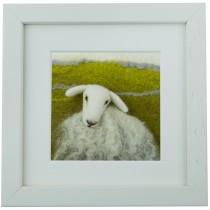 White Faced Sheep - Felt Art Mini-Print