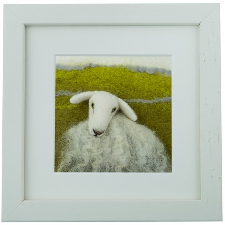 White Faced Sheep - Felt Art Mini-Print
