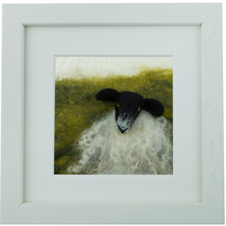 Black Faced Sheep – Felt Art Mini-Print