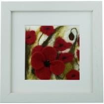 Large Poppies – Felt Art Mini-Print
