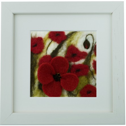 Large Poppies – Felt Art Mini-Print