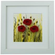 Small Poppies – Felt Art Mini-Print
