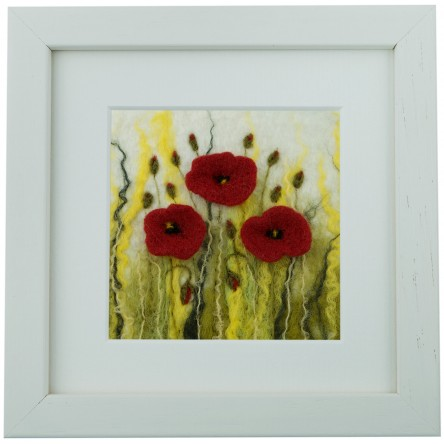 Small Poppies – Felt Art Mini-Print