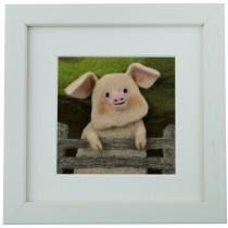 The Pig – Felt Art Mini-Print