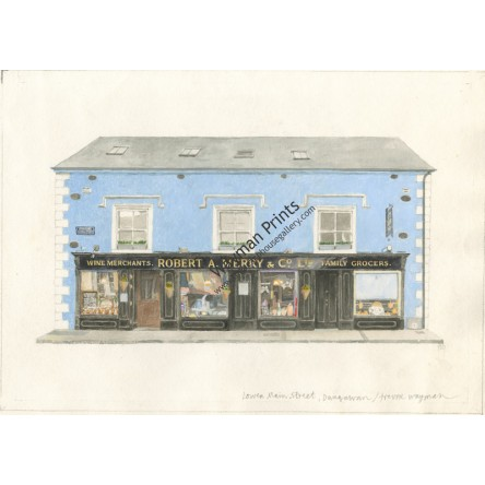 Watercolor Print - Merry's, Dungarvan, Co. Waterford by Trevor Wayman