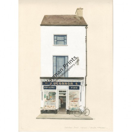 Watercolor Print - O'Connors, Clonmel, Tipperary, Ireland by Trevor Wayman