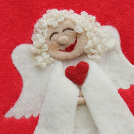 Christmas Angel - Felt Art Mini-Print