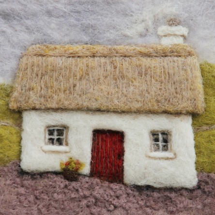 A New Print - Irish Cottage - Felt Art Mini-Print