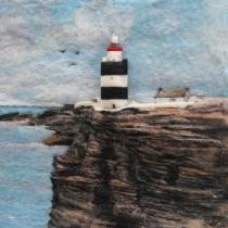 A New Print - Hook Head Lighthouse – Felt Art Mini-Print