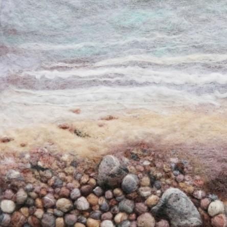 Small Stones - Felt Art Mini-Print