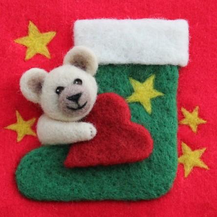 Christmas Stocking - Felt Art Mini-Print