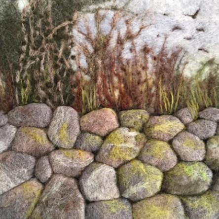 A New print - Stone Wall - Felt Art Mini-Print